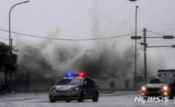 [종합]태풍 '콩레이' 지나간 부산, 정전사태 등 강풍 피해 속출