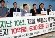 정동영, 재벌·대기업과 다주택보유자의 투기 규제 촉구 기자회견
