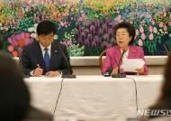 국정원 국감 중간 브리핑 하는 김민기-이은재
