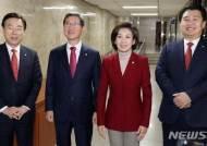 한국당 원내대표 경선…나경원 '웰빙'-김학용 '계파' 흠집내기
