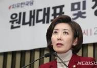 """나경원, 3수끝에 한국당 원내사령탑...""""당내 통합이 절실하다""""(종합)"""
