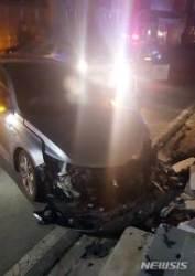 고속도로 음주단속 피해 50㎞ 도주 후 사고 낸 만취운전자 검거