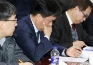KT아현지사 화재 중소상인 피해대책 간담회 참석한 이승용 KT 전무