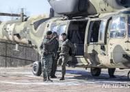 김용우 육군참모총장, 수리온 헬기타고 새해 첫 훈련