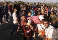 이스라엘군 총격에 숨진 '팔'여성 장례식 대규모시위
