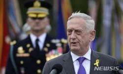 """매티스, 이란 군사공격 검토에 """"전쟁 위험"""" 우려"""