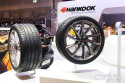 한국타이어, 유럽 車전시회서 초고성능 타이어 선보여