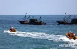 목포해경, '어획량 축소' 중국 쌍타망어선 4척 나포