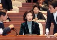 한국당 의총 '황교안 출마 자격' 입씨름...고성과 욕설도