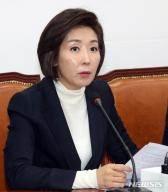 """나경원 """"손혜원 국정조사 시 이해충돌 전수조사 수용"""""""