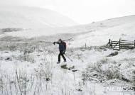 영국 웨일스의 눈 언덕