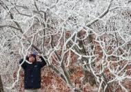 [포토] 첫 눈 내린 함양 삼봉산...내일 더 춥다!