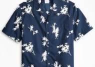 브룩스 브라더스 (Brooks Brothers) 포플린 캠프 칼라 숏 슬리브 플로럴 프린트 셔츠