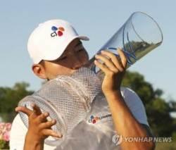 PGA 투어 우승 강성훈, 세계 랭킹 75위로 63계단 상승