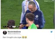 애연가 첼시 사리 감독, 유로파리그 우승 뒤 '시가 세리머니'
