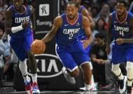 무릎 부상 레너드 '미리 보는 NBA 결승전'에 결장