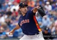 벌랜더, 삼두근 통증으로 조기강판…MLB 휴스턴은 긴장