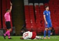 '10명 뛴' 잉글랜드, 네이션스리그서 덴마크에 0-1 패배