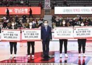 여자농구 BNK, 연고지 여자농구 지원금 4천300만원 후원