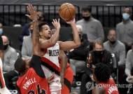 매컬럼 역전 결승골…NBA 포틀랜드, 토론토 제압하고 3연승