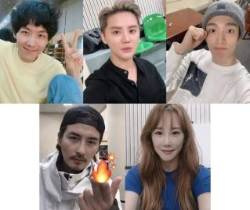 '엑스칼리버', 카이-김준수-도겸 등 배우들의 열정 가득 연습실 셀카 대방출