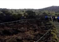 한라산 사제비 오름서 불, 16ha 태워…잔불 진화중
