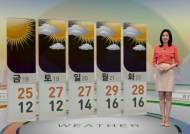 [날씨] 전국 곳곳에 비…낮기온 선선