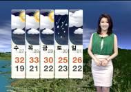 [날씨] 한낮 30도 안팎…동해안 비