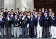 한국 메달리스트, 한국전 참전 용사비 참배 행사 참석