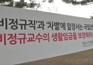 """죽도록 강의해도 연봉 '1천만원'…""""구조조정 압박만 늘어"""""""