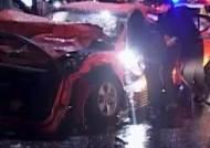 택시가 종잇장 구겨진 듯…음주운전에 아찔한 교통사고