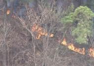 동부전선 DMZ 북쪽에서 산불 '활활'…강풍 타고 번져