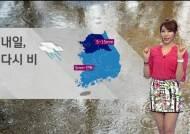 [날씨] 전국에 비…중부, 돌풍 동반 천둥·번개