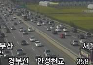 '차례 지내고 집으로' 귀경 정체…부산→서울 6시간 50분