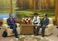 """북한 김영남 """"미국, 적대정책 포기해야 경제 발전"""""""