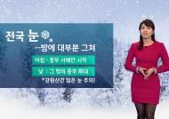 [날씨] 전국에 눈…오후 늦게부터 그쳐