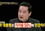 """[썰전] 강용석 """"박 대통령, 지지율 50%에 민감한 듯"""""""