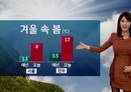 [날씨] 오늘도 포근…주말 전국에 비 조금