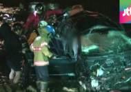 동부간선도로서 승용차 하천으로 추락…운전자 부상
