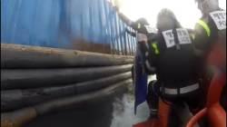 강철판 달고 불법조업한 중국 어선 나포