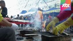 부산 자갈치 시장에 '구름인파'…먹거리·볼거리 풍성