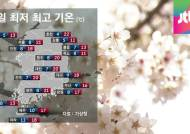 [날씨] 내일도 봄날씨…월요일에 전국 곳곳에 비소식