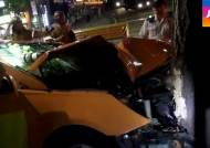 택시기사 가로수 충돌 사망…경찰, 졸음운전 추정