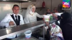 피로연 대신 '난민 밥차'…4000명 식사 베푼 신혼부부