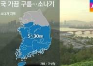 [날씨] 큰 일교차 주의…곳곳 소나기