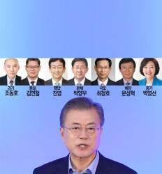 '비문' 박영선·진영 입각 文, 7개 부처 중폭 개각