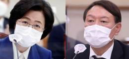 """""""秋·尹 둘 다 리더십 붕괴"""" 민주당서 첫 동반 퇴진론"""