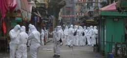 """홍콩, 한밤 200여개 건물 전격봉쇄 """"주민 이탈 막자"""" 경찰 1700명 배치"""